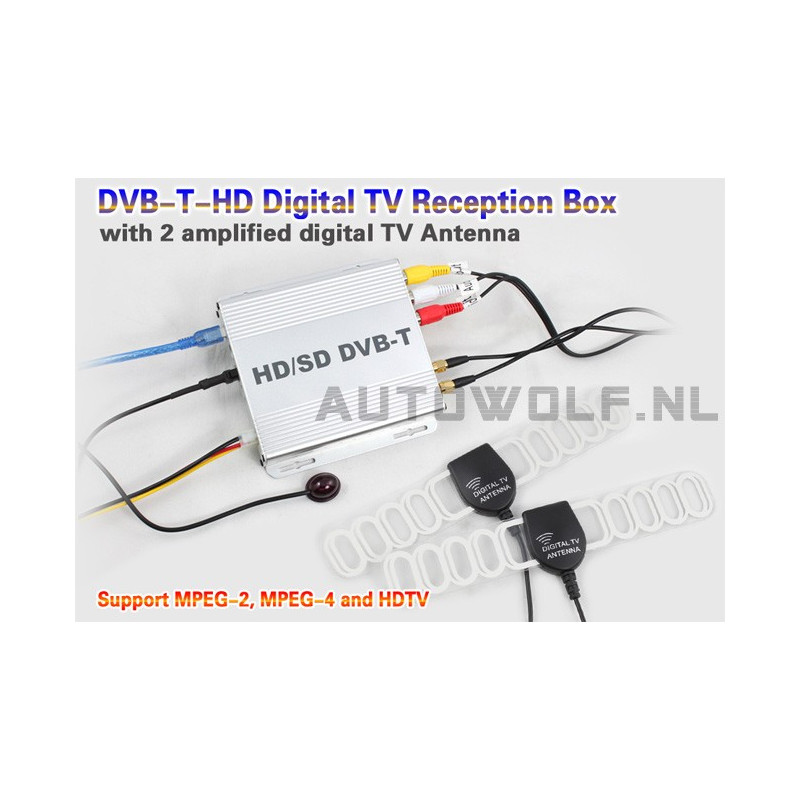 AW499D Digitale TV ontvanger - DVB-T HD Tv reciever box