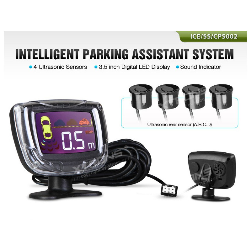 Parkeersensor kit met 4 sensoren LED - type2