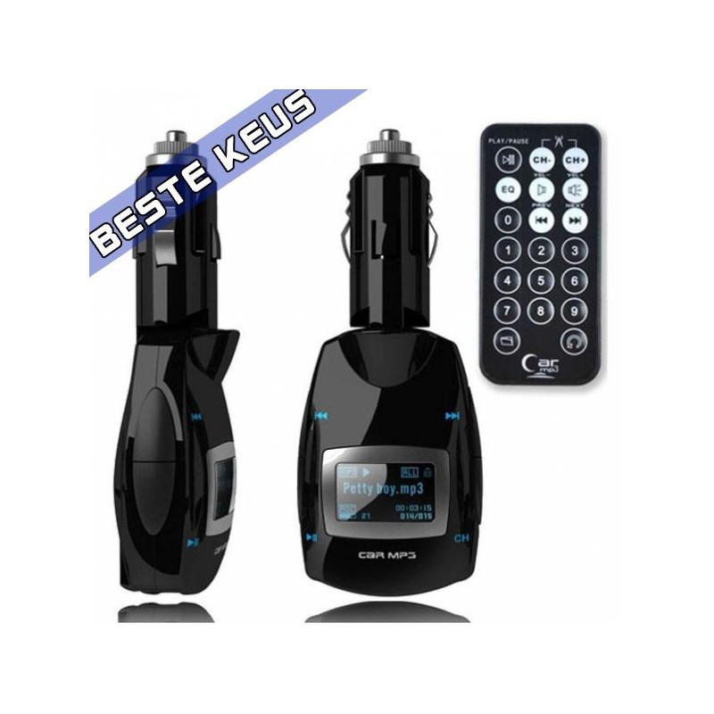 FM transmitter mp3 zwart 04