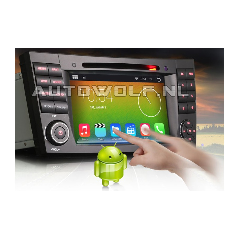 AW9501A  7 inch Android navigatie, multimedia car pc voor Mercedes