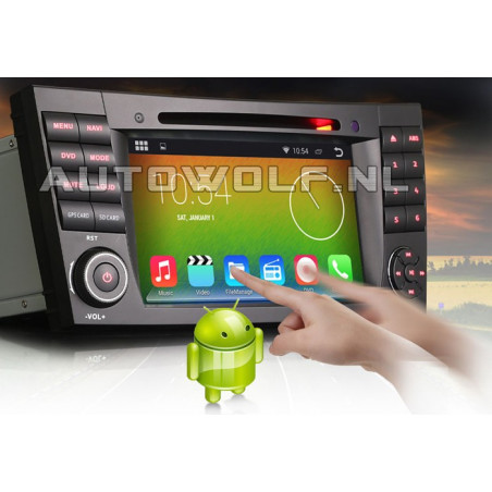 AW9501AS  7 inch Android navigatie, multimedia car pc voor Mercedes
