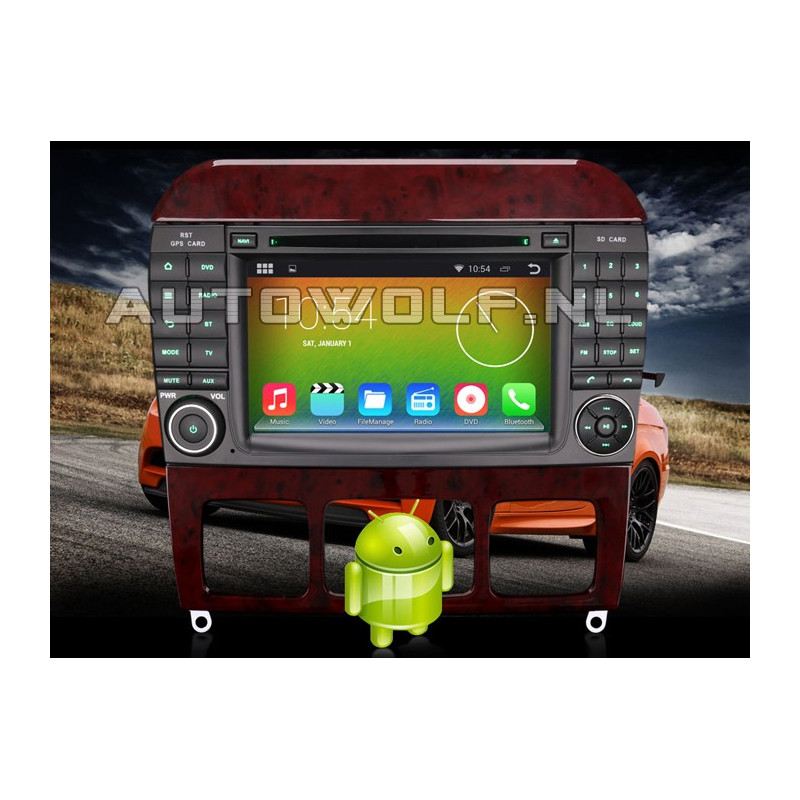 AW5509S Mercedes 7 inch Android navigatie, multimedia car pc AW9509A