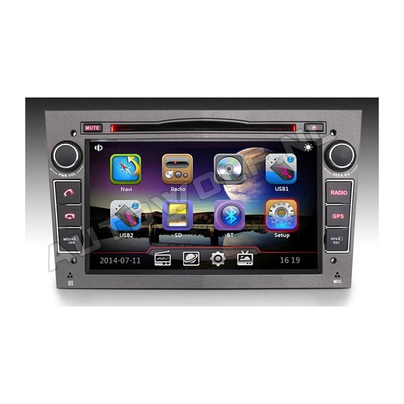 Opel 2DIN 7 inch autoradio met Navigatie en DVD speler