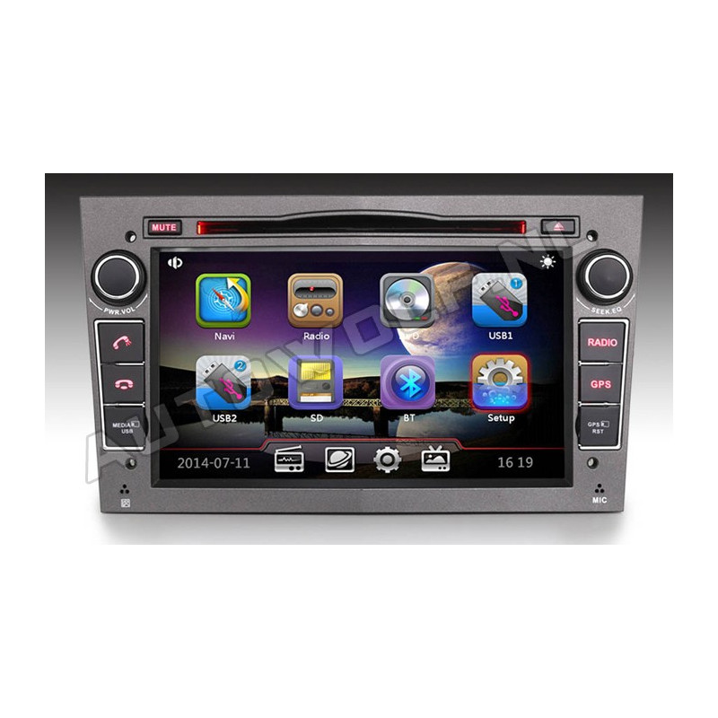 Opel 2DIN 7 inch car stereo with Navigation and DVD player