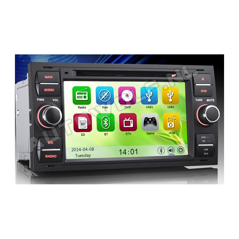 AW7301M Ford 7 inch navigation and dvd player with 3g and wifi function, dual-core