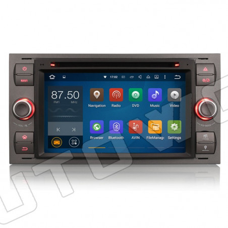 AW3366FS2 7 inch Android navigatie voor Ford, multimedia car pc octa-core, 4gb ram DAB