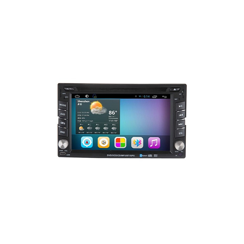AW2222C 2DIN 6,2 inch Android 7.1 octacore navigation, multimedia, car pc, car kit dvd player