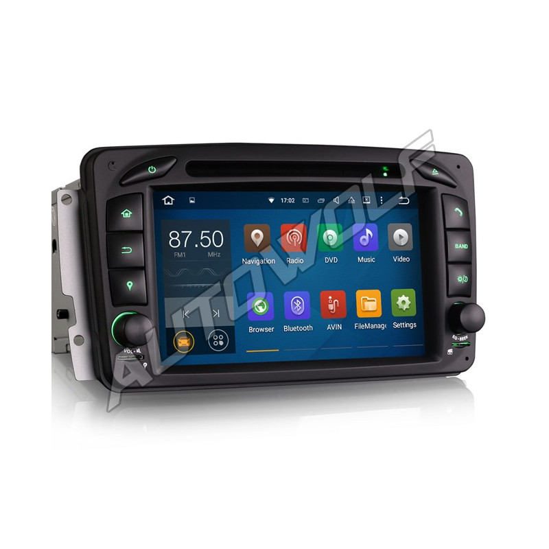 AW3363C W203 7 inch Android navigatie, multimedia car pc met DAB
