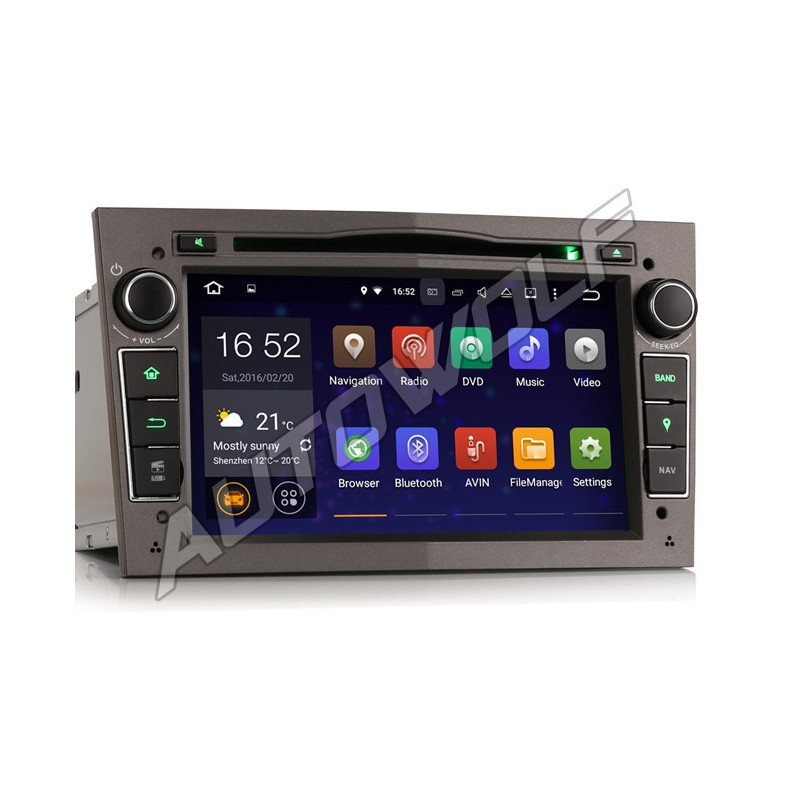 AW3360P 7 inch Android navigatie voor Opel, multimedia car pc met DAB