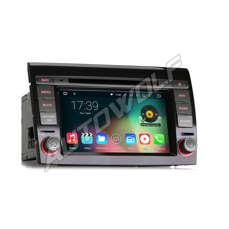 Fiat Bravo 2DIN 7 inch Android navigatie, multimedia car pc met dvd octa-core 2gb ram android 6