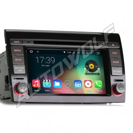 Fiat Bravo 2DIN 7 inch Android navigatie, multimedia car pc met dvd octa-core 2gb ram android 6