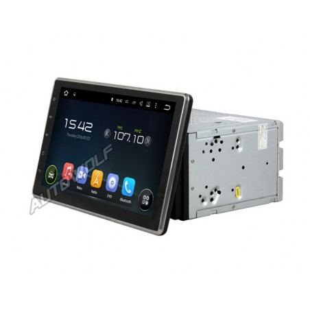 AW7711US 2DIN 10.1 inch Android navigatie, multimedia car pc met DAB+ octa core android 8