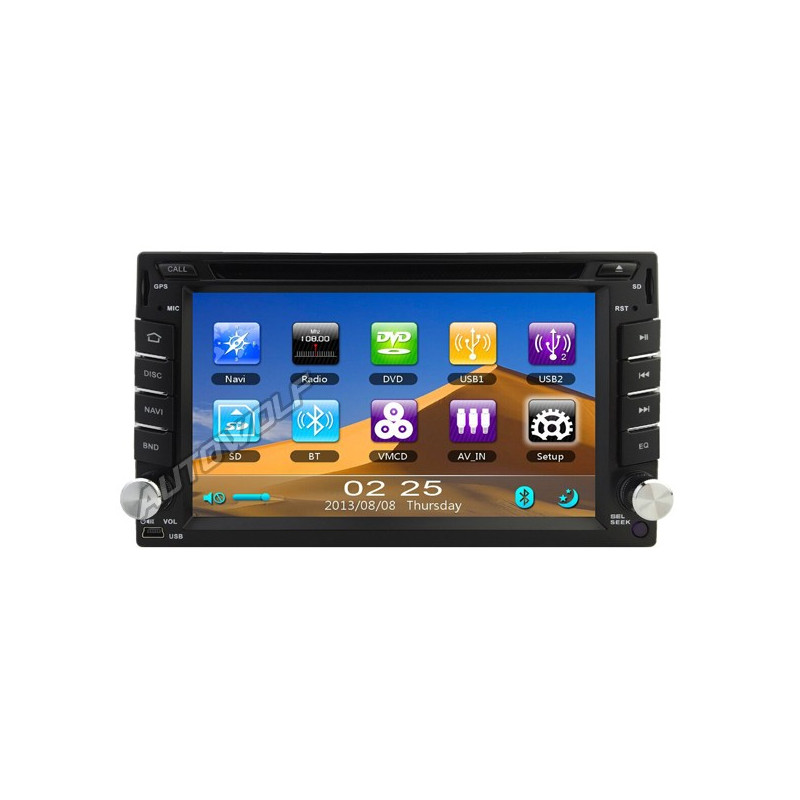 AW899G 2 DIN 6,2 inch car stereo with Navigation and DVD player
