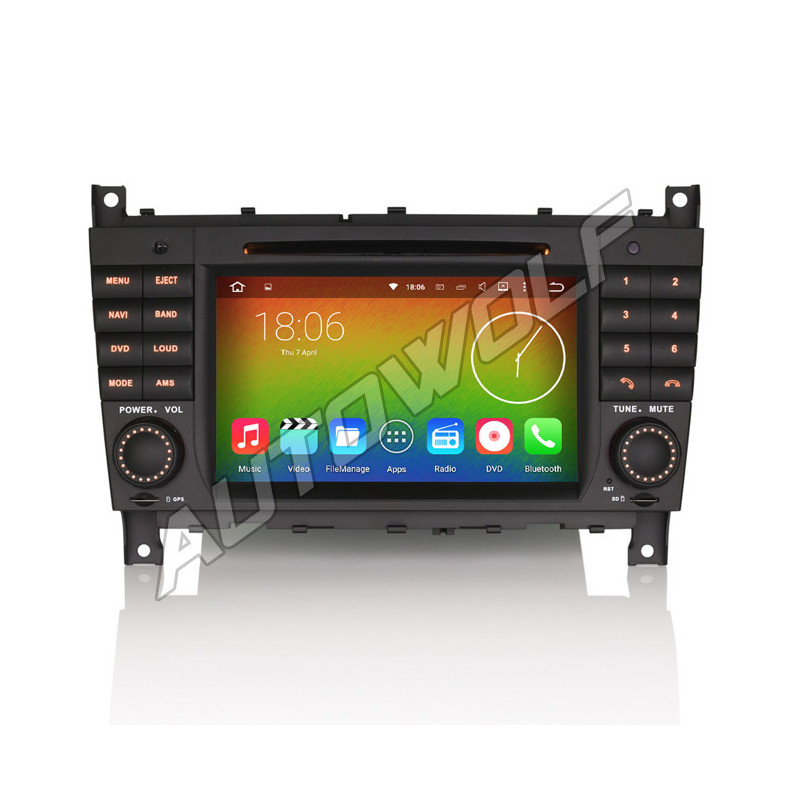 AW5588S2 Mercedes 7 inch Android navigatie, multimedia car pc octa-core 4gb