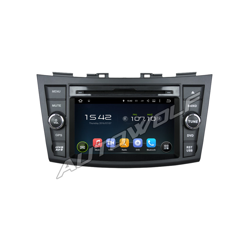 AW5557S 2DIN 7 inch Android autoradio navigatie voor Suzuki Swift, multimedia car pc met DAB