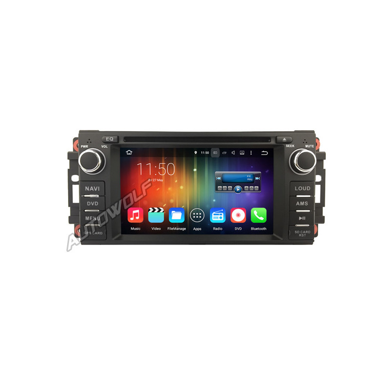 AW5066J Android 8 navigatie voor Jeep Dodge Chrysler, multimedia car pc met DAB