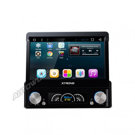 D719AS 1DIN 7 inch klapscherm Android navigatie, dvd, multimedia car pc met capacitive touchscreen en dab+ quadcore processor