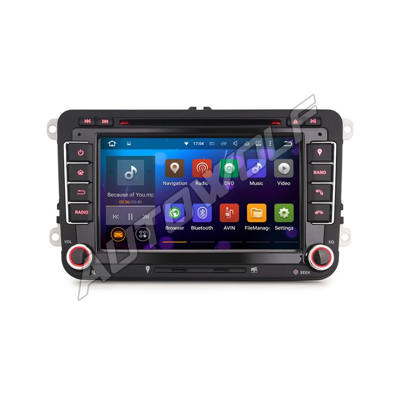 AW9358VS-2 2DIN 7 inch Android 8 navigatie voor VW, multimedia car pc met DAB octacore