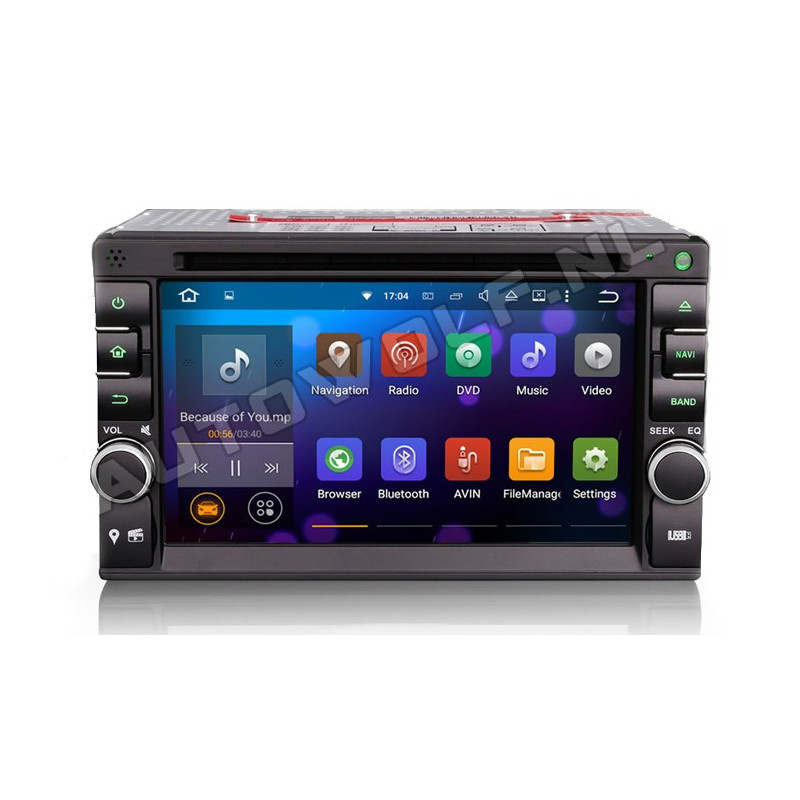 AW3757U 2DIN Android navigation, multimedia, car pc DAB+, octa-core 2GB
