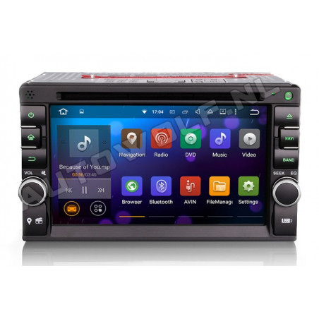 AW3757U 2DIN  Android navigatie, multimedia car pc met DAB+, octa-core 2GB