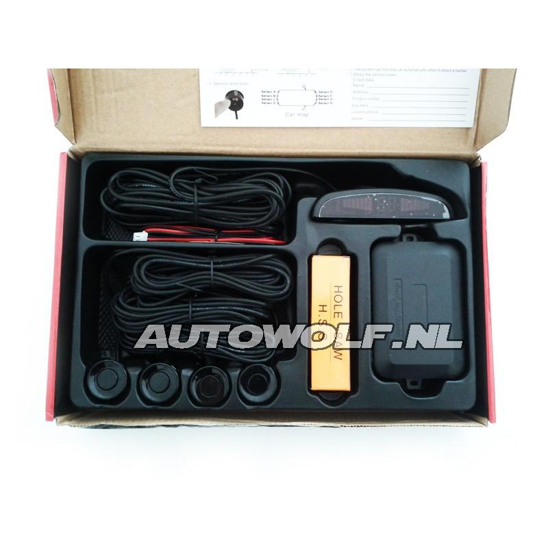 Parkeersensor kit met 8 sensoren LED