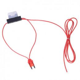 12V aansluitkabel met 10 ampere zekering +15 kabel