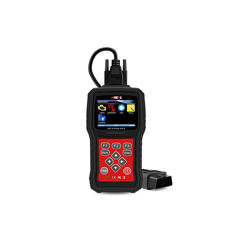 AD610 OBD2/EOBD + ABS Airbag and SAS, manual scanner