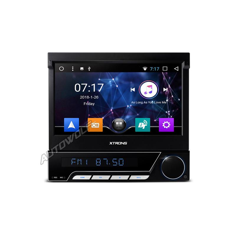 D771A 1DIN 7 inch klapscherm Android autoradio met octa-core processor en 2gb ram