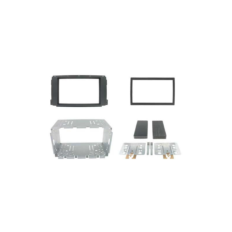 2 DIN paneel Smart For Four en For Two naar ISO