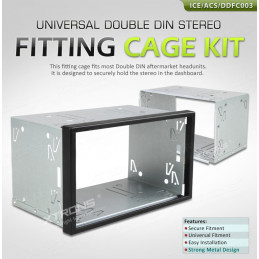 2DIN frame and panel 100mm