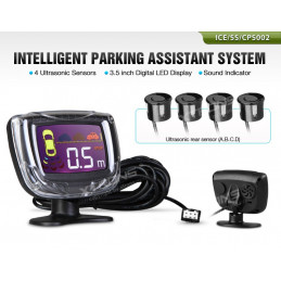 Parking sensor kit with 4 sensors LED - type2