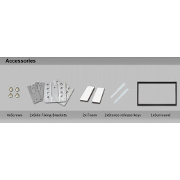 2DIN frame en paneel 100/110mm
