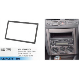 2 DIN panel, Volkswagen, Seat, Skoda - VW to ISO 3