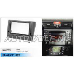 2 DIN panel Stilo - Fiat to ISO