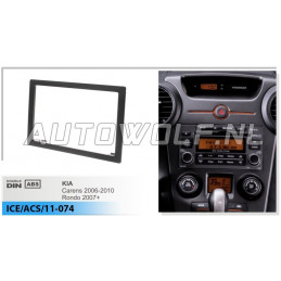 2 DIN panel Carens - Kia to ISO