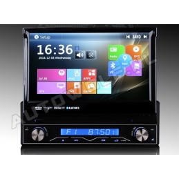 AW1088M 1 DIN 7 inch klapscherm headunit with Navigation, DVD, bluetooth