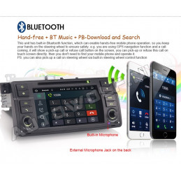 AW3162VS BMW E46 7 inch Android 8 navigation, multimedia, car pc DAB