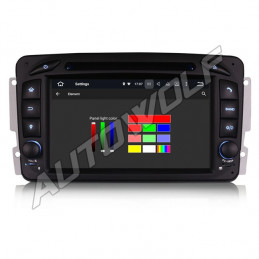 AW3363C Mercedes W203 7 inch Android navigatie, multimedia car pc met DAB