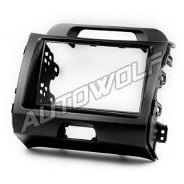 2 DIN panel Kia Sportage 3 to ISO