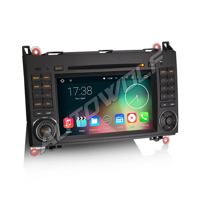 2DIN android car radio for Mercedes with navigation
