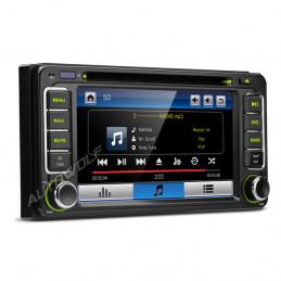 6,2 inch navigatie en dvd speler voor Toyota met bluetooth carkit
