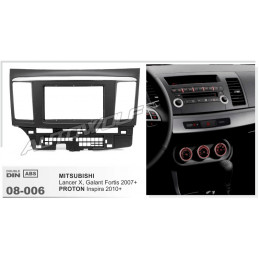 2 DIN panel Mitsubishi lancer to ISO