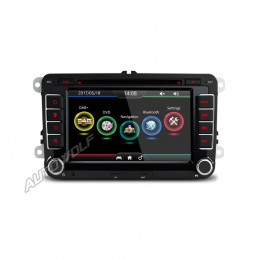 AW207172 2DIN 7 inch Autoradio Navigatie voor VW, multimedia car pc met DAB