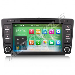 AW14717 8 inch Android car radio navigation system, octacore processor 2GB ram with DAB for skoda octavia