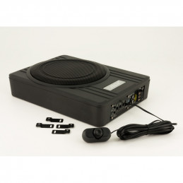 SSDN 10 inch 'Under-Seat' Subwooferbox active flat - 600 Real Watts