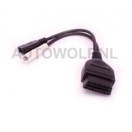 Audi / Volkswagen 2x2 pin to 16 pin OBD2 adapter