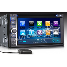 2 DIN with 6.2 inch 3G car stereo with Navigation and DVD