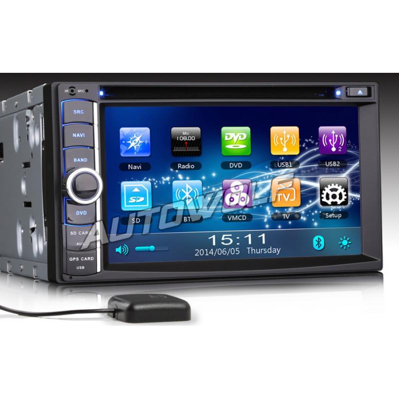 2 DIN 6,2 inch 3G autoradio met Navigatie en DVD