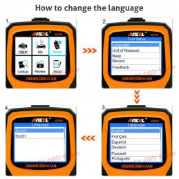 AD410 OBD2 EOBD CAN Handscanner NL