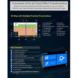 AW1088M 1 DIN 7 inch klapscherm autoradio met Navigatie, DVD, bluetooth